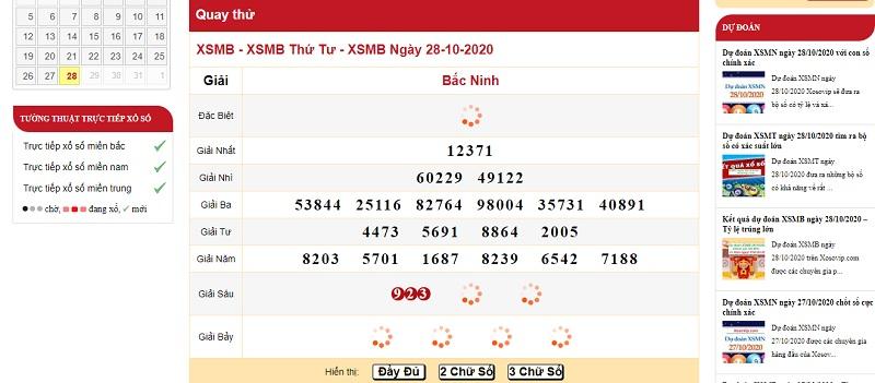 Dự đoán XSMN ngày 29/10/2020 qua quay thử