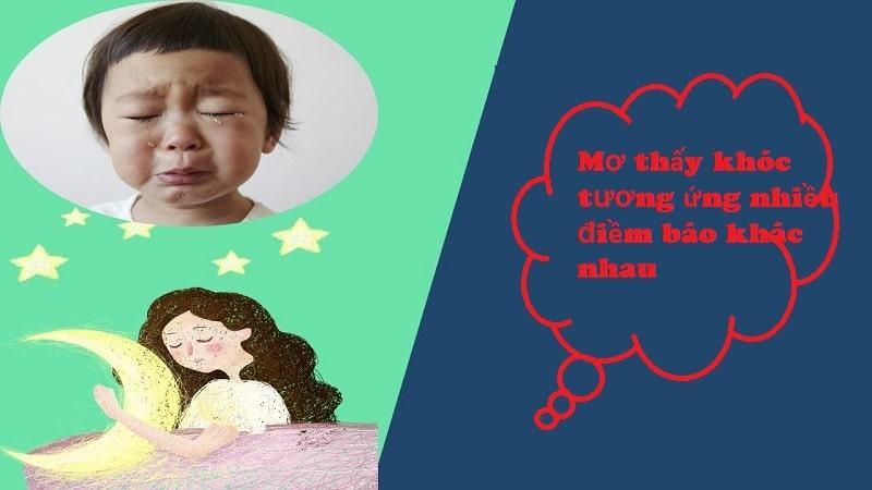 Mơ thấy khóc tương ứng những điềm báo khác nhau