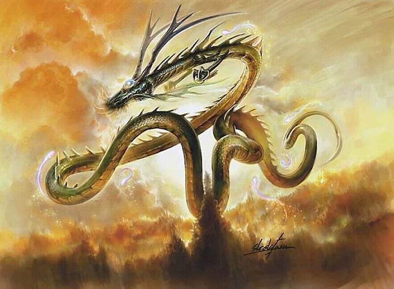 Mơ thấy rồng bay lượn trên trời