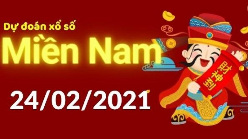 Dự đoán kết quả xổ số miền Nam ngày thứ tư 24/2/2021
